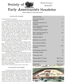 Newsletter of Society of Early Americanists 1