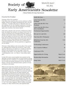 Newsletter of Society of Early Americanists 3
