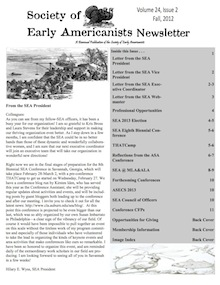 Newsletter of Society of Early Americanists 2